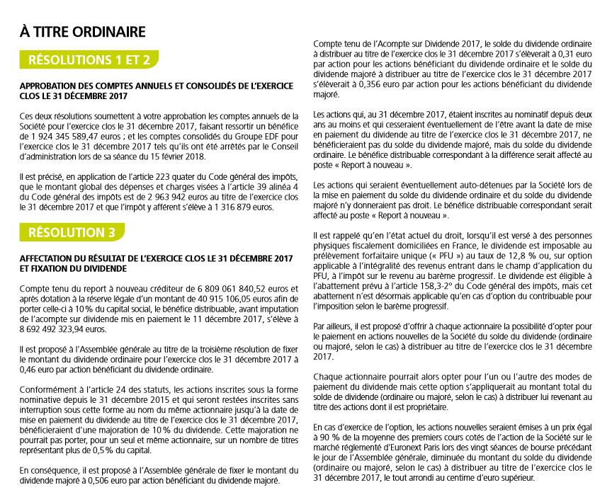 Résolution dividende EDF